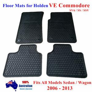 Rubber Floor Mats Tailored For Holden Commodore VE SS 2006 - 2013 Sedan / Wagon