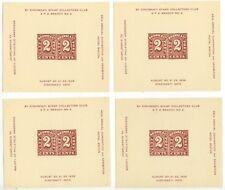 1936 Cincinnati Ohio Stamp Collectors Club souvenir sheets