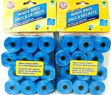 2 Arm & Hammer Fresh Scent Odor Control Baking Soda 180 Count Waste Bag Refill