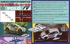 ANEXO DECAL 1/43 VOLKSWAGEN POLO R WRC A.MIKKELSEN R R.FINLAND 2014 4th (05)