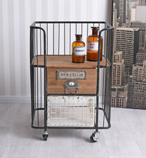 Kitchen Cart Loft bar Car Tea Trolley Side Table Serving Cocktail Cabinet Dinett