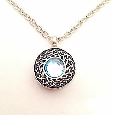 Blue Celtic Circle Urn Pendant Necklace - Cremation Urn Jewellery Ash Keepsake