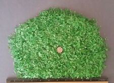 "BEACH SEA GLASS - Emerald  Green-  Craft Glass - 2lbs  0"" - 1/4"" size"