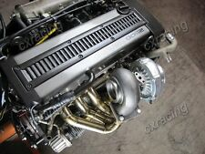 T70 Turbo Kit Manifold Downpipe For 1JZGTE 1JZ-GTE GS300 SC300 Supra Black