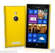 Pellicola + Custodia BACK GIALLA Cover per Nokia Lumia 925 Rigida Hard Plastica