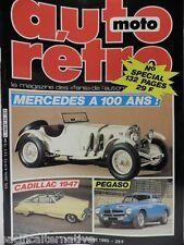 Revue AUTO RETRO moto magazine n° 64 - décembre 1985 collection cadillac pegaso