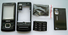 Black Faceplate Housing Fascia Facia Cover case for Nokia 6500s 6500 slide