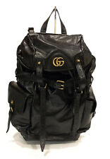 GUCCI GG RE(BELLE) LARGE LIGHT TRAVEL BACKPACK -BLACK LEATHER -NEW