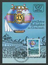 AUSTRIA MK AVIATION BALLON BALLOON MAXIMUMKARTE CARTE MAXIMUM CARD MC CM m210/3