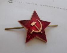 INSIGNE / COCARDE CHAPKA ARMEE ROUGE MARTEAU ET FAUCILLE URSS CCCP