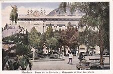 ARGENTINA - Mendoza - Banco de la Provincia y Monumento al Gral San Martin