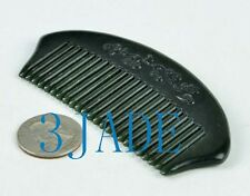 Natural Nephrite Jade Comb Hand Carved Gemstone Hair Accessory