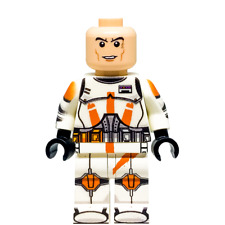 Custom LEGO Star Wars Minifigure Clone Commander Cody (Without Helmet)