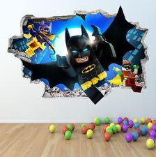LEGO BATMAN WALL STICKER 3D LOOK - BOYS GIRLS BEDROOM WALL ART DECAL Z418