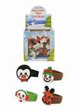 72 x Xmas Rubber Character Silicon Finger Rings Toy Stocking  Filler 2 X 3cm