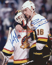 Kirk McLean & Trevor Linden Signed 8x10 Photo Vancouver Canucks Autograph