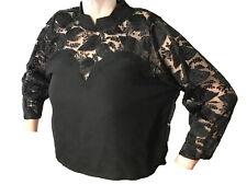 Schwarze Spitzenbluse (80er Jahre Wave Mode)