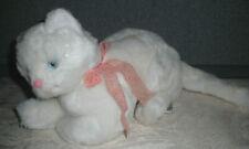 VTG 1986 Dakin LACY KITTY White Cat Kitten W/Peach Ribbon Stuffed Plush w/Tag!