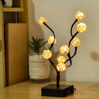 1 pcs lamp Charming Tree Design LED Battery Operated Tree Lamp for Desktop Home