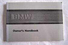 1987 BMW 3 Series Convertible M3 Owners Manual  original new