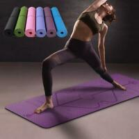 Body Alignment Yoga Mat For Active Fitness, Pilates, Exercise-Outdoor & Indoors