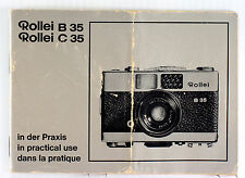 Original Rolleiflex Rollei B-35 & C-35 Manual, German, English, French, 32 pages