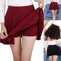 Plus Size Women Sexy Short Skirts Fashion Pleated  Mini Ladies Vogue Skirts htdh