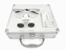 Dental Surgical 3.5X420mm Binocular Loupes+LED Head Light+Aluminum Box Silver