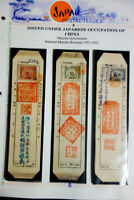 Japanese Occupation of China Revenue Stamps on Tags Rare