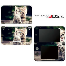 Vinyl Skin Decal Cover for Nintendo 3DS XL LL - Kitty Praying