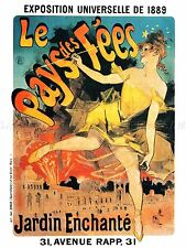 ADVERTISING THEATRE STAGE CABARET WINTER GARDEN FAIRY LAND PARIS POSTER LV1163