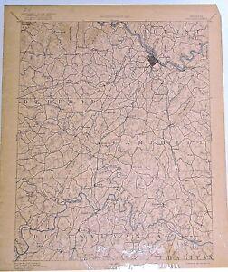 USGS 30' Lynchburg, VA topographic map / Reconnaissance Map 1892 edition
