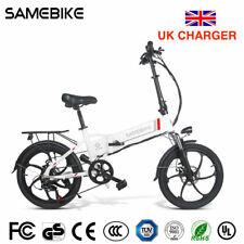 "Samebike 20"" White 350W Twist Throttle Folding Electric Bike 20LVXD30-II ebike"