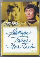 "STAR TREK ARCHIVES & INSCRIPTIONS GEORGE TAKEI SULU ""TREK"" AUTO AUTOGRAPH SP"