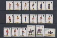 Guernsey - 1974, 1/2p - £1 Militia Complete set of 18 - M/M - SG 98/113