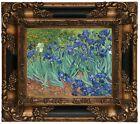 van Gogh Irises 1889 Wood Framed Canvas Print Repro 8x10