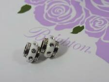 Brighton DAZZLE SPACER / CHARM / BEAD   WHITE SILVER CRYSTAL  NWOT ( 2 )