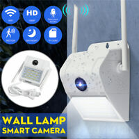 48LED 1080P Wifi Solar Motion LED Wall Light Security Camera Outdoor Garden Lamp