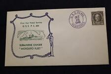 NAVAL COVER 1940 SHIP CANCEL 1ST DAY POSTAL SERVICE USS P.C. 451 (1136)