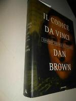 LIBRO: IL CODICE DA VINCI DAN BROWN - edizione speciale illustrata mondadorri