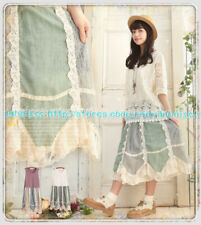 Mori Girl Sleeveless Vintage Sweet Kawaii Japanese Lolita Lace Vest Dress #X11