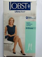 Black M Jobst Support Compression Knee Ct. Ultra sheer stockings 8-15 mmHg