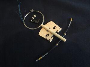 1 set violin fittings (string+ tuners+Tail Guts+Bridges+post) 4/4