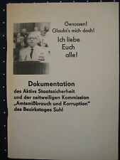 MfS Staatssidherheit Propaganda Stasi Thüringen Suhl Amtsmißbrauch Korruption