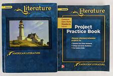 Glencoe Literature - American Literature Textbook and Project Practice Book