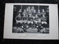 RARE Original Famous Footballers, #095 London Scottish Rugby Team 1895 - 96