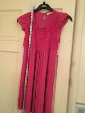 MARKS AND SPENCER MAGENTA PINK SHORT SLEEVED TUNIC TOP AGE 13 VVGC