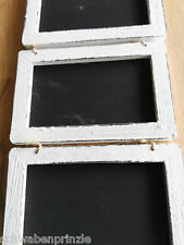 3 x Shabby Wandtafel Kreidetafel 19.5x13 Dekotafel Holztafel Tafel Weiß Maritim