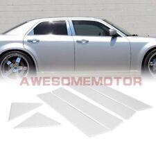 6Pcs Stainless Steel Chrome Door Window Pillar Post For Chrysler 300 300C 05-10