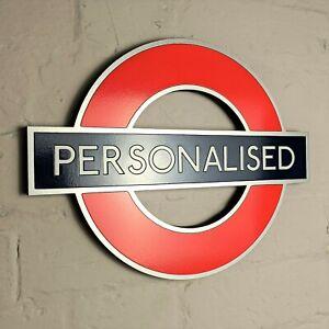 Personalised London Underground sign / tube station - train station subway